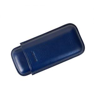Jemar Leather Cigar Case Blue 2-Finger