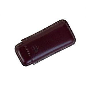 Jemar Leather Cigar Case Aubergine 2-Finger