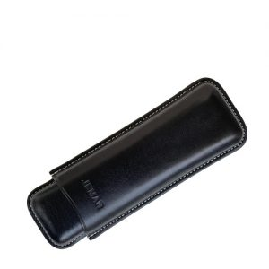 Jemar Leather Cigar Case Black 2-Finger